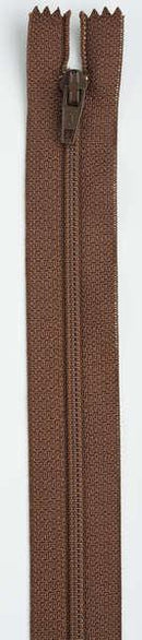 All-Purpose Polyester Coil Zipper 16in London Tan