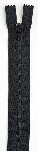All-Purpose Polyester Coil Zipper 18in Black