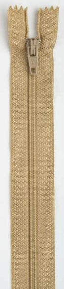 All-Purpose Polyester Coil Zipper 20in Camel