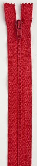 All-Purpose Polyester Coil Zipper 22in Atom Red