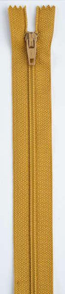 All-Purpose Polyester Coil Zipper 22in Mine Gold