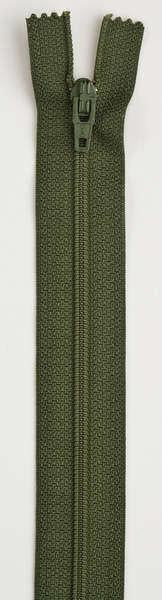 All-Purpose Polyester Coil Zipper 22in Spinach