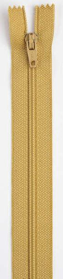 All-Purpose Polyester Coil Zipper 22in Temple Gold