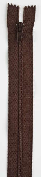All-Purpose Polyester Coil Zipper 7in Cherry Brown