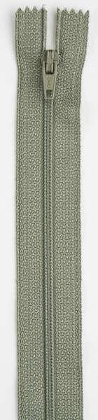 All-Purpose Polyester Coil Zipper 7in Green Linen