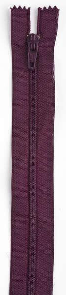 All-Purpose Polyester Coil Zipper 7in Maroon