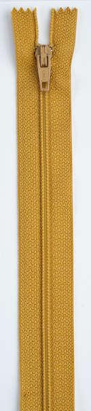 All-Purpose Polyester Coil Zipper 7in Mine Gold