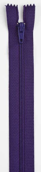 All-Purpose Polyester Coil Zipper 7in Purple