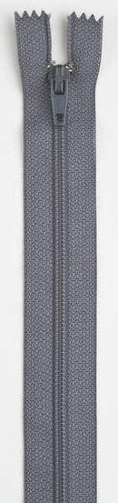 All-Purpose Polyester Coil Zipper 7in Slate