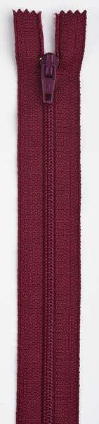 All-Purpose Polyester Coil Zipper 9in Barberry Red