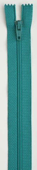 All-Purpose Polyester Coil Zipper 9in Blue Turquoise