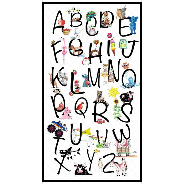 "Alphabet Soup-24"" Alphabet Soup Panel White 1649-28207-Z"
