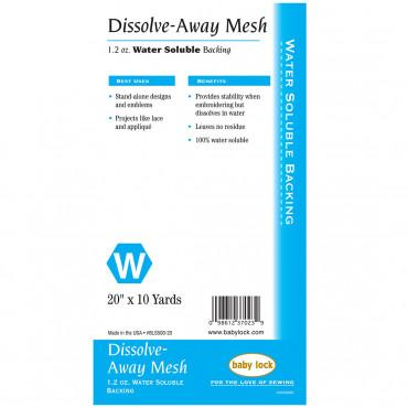 "Baby Lock Dissolve Away Mesh Backing - 20"" x 10 Yd - BLS500-20"