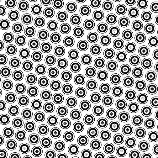 Night & Day-Dotty Buttons White/Black 10401-99