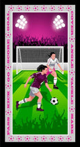 "Born To Score-Free Kick Girl 24"" Banner Panel 5286P-55"