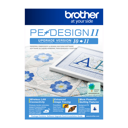 Brother PEDESIGN10 to PEDESIGN 11 Upgrade (#SAVRPED11)