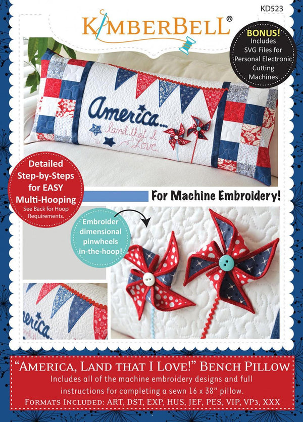 CD-ROM America, Land That I Love Bench Pillow KD523