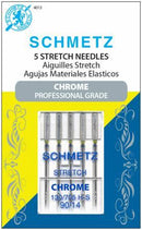 Chrome Stretch Schmetz Needle 5 ct, Size 90/14 - 4013