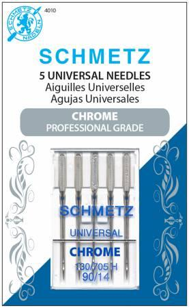 Chrome Universal Schmetz Needle 5 ct, Size 90/14 4010S