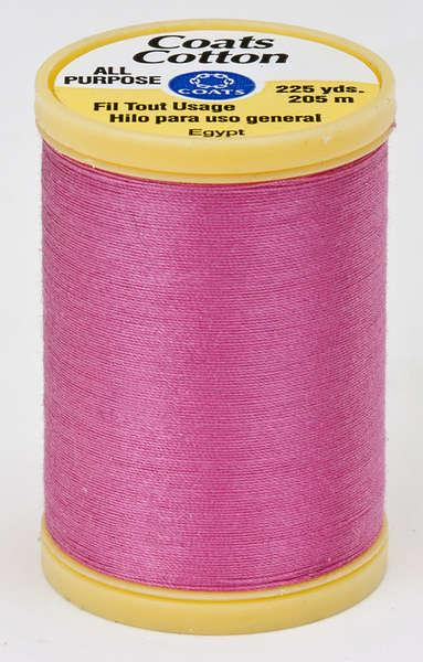 Coats Cotton Sewing Thread 225yds Hot Pink - S9701840