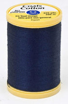 Coats Cotton Sewing Thread 225yds Navy - S9704900