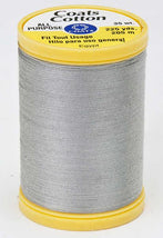 Coats Cotton Sewing Thread 225yds Nugrey - S9700450