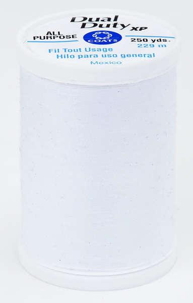 Coats Dual Duty XP PolyesterThread 250yds Artic White - S9100075