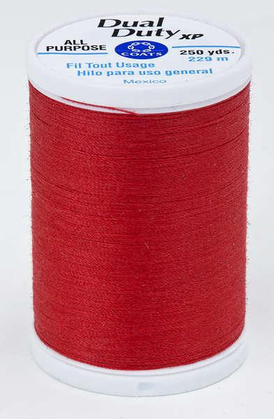 Coats Dual Duty XP PolyesterThread 250yds Atom Red - S9102160