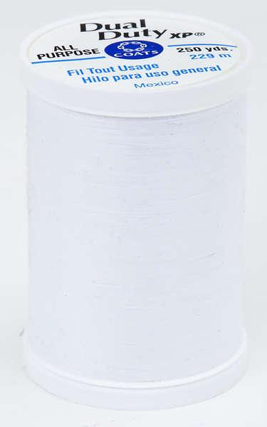Coats Dual Duty XP PolyesterThread 250yds White - S9100100