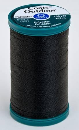 Coats Outdoor Poly 200yds Black S9710900