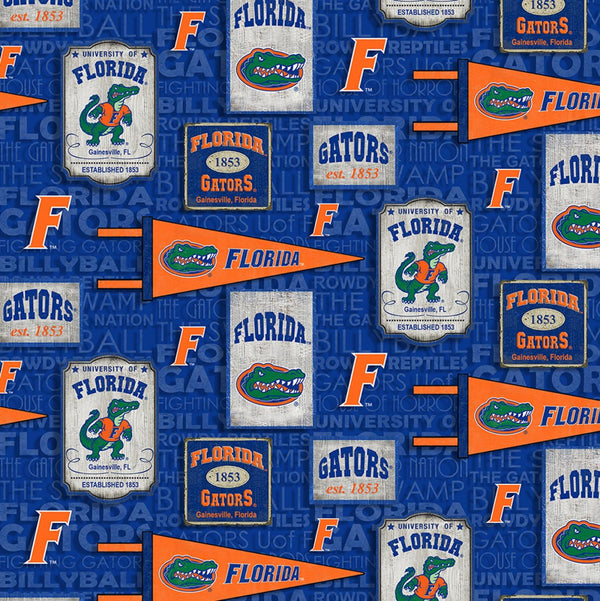 College Cotton-Florida Vintage Pennant FL-1267