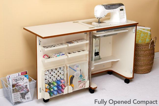 Compact Sewing Cabinet White - Tailormade C-W001