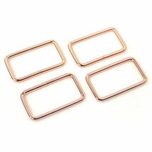 "4 Rectangle Rings 1.5"" Rose Gold/Copper"