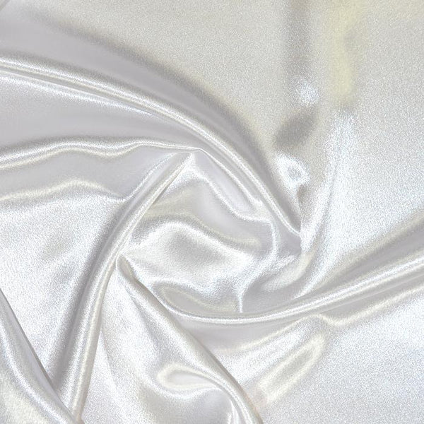 Crepe Back Satin Enchantment-White