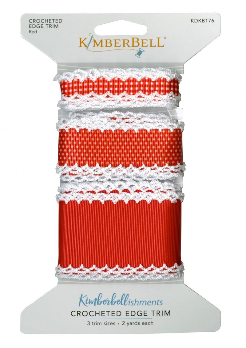 Crocheted Edge Trim-Red KDKB176