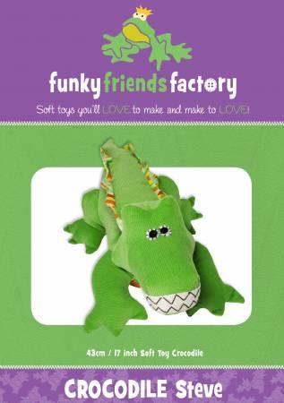 Crocodile Steve Pattern - 17in Stuffed Soft Toy - FF3937