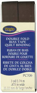 Double Fold Quilt Binding Seal Brown - 117706092