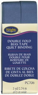 Double Fold Quilt Binding Stone Blue - 117706584