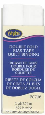 Double Fold Quilt Binding White - 117706030
