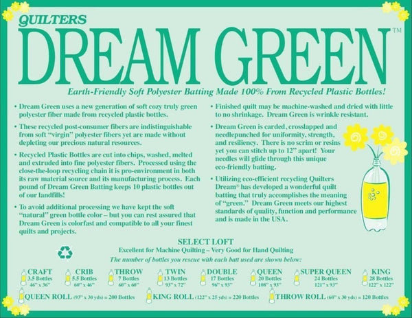 Dream Green Crib 61x46 GCB