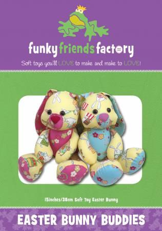 Easter Bunny Buddies Pattern  - 15in Stuffed Soft Toy - FF4002
