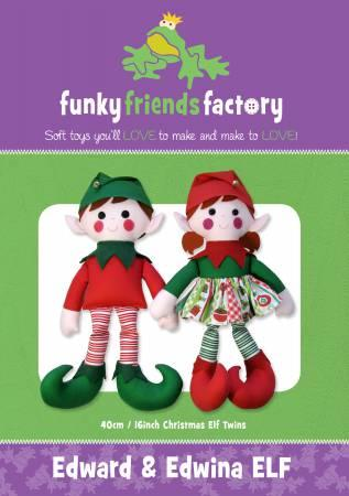 Edward & Edwina Elf Pattern - 16in Stuffed Soft Toy - FF4026
