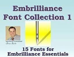 Embrilliance Font Collection 1 - BLI-FNT01