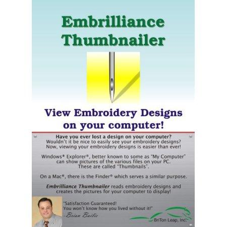Embrilliance ThumbnailerEmbroidery Software - BB-EMT10