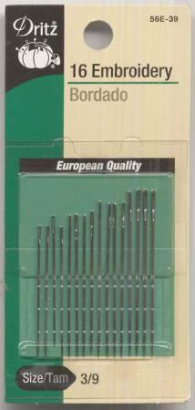Embroidery Needles Sizes 3/9 16 ct - 56E-3-9