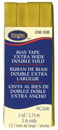 Extra Wide Double Fold Bias Tape 3yds-Mustard 117206508