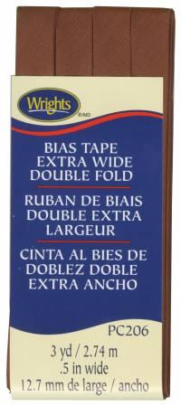 Extra Wide Double Fold Bias Tape BARK -  1172061236