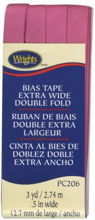 Extra Wide Double Fold Bias Tape BRT Pink- 117206022