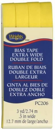 Extra Wide Double Fold Bias Tape Canary-  117206086