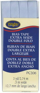 Extra Wide Double Fold Bias Tape LT Blue- 117206052